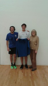 """Contenders Finalists- Riley Kloss & Anthony Collado with """"Coach"""" Paula Dau."""